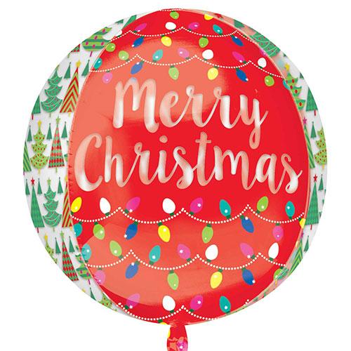 Weihnachtsbaum Und Lichter Sehen Durch Orbzfolienheliumballon 38Cm / 15 In Gallery Image